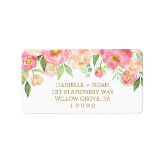Perzik en het Roze Huwelijk van de Bloemen van de Etiket