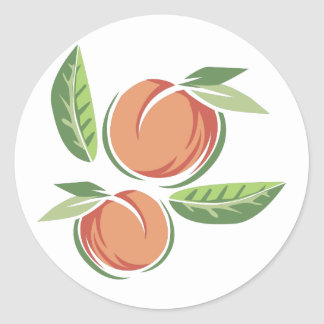 Perziken Ronde Sticker