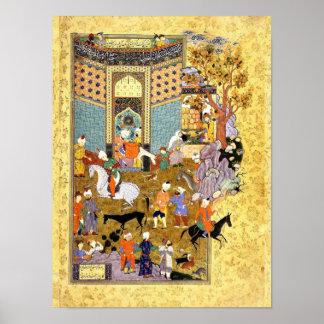 Perzische Miniatuur: Verkoop Mijn Prachtige Ezel Poster