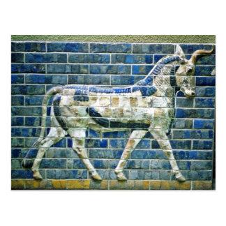 Perzische Stier - Verglaasde Baksteen, Istanboel Briefkaart