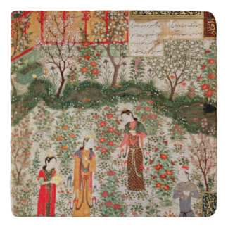 Perzische Tuin, 15de eeuw (w/c op papier) Trivet