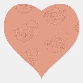 pet paddestoelen hartvormige stickers