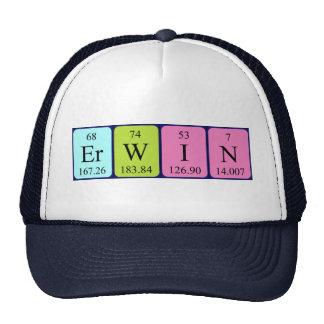 Pet van de de lijstnaam van Erwin het periodieke
