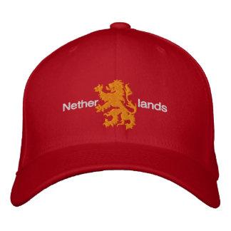 Pet van de Leeuw van Nederland het Rode en Oranje Geborduurde Pet