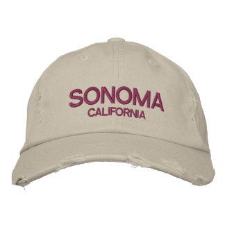 Pet van het Honkbal van Sonoma het Californië Geborduurde Pet