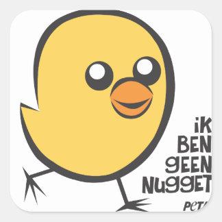 PETA Ik ben geen nugget sticker