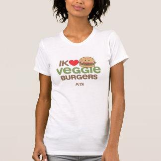 PETA Ik [love] veggie burgers Tee Shirts