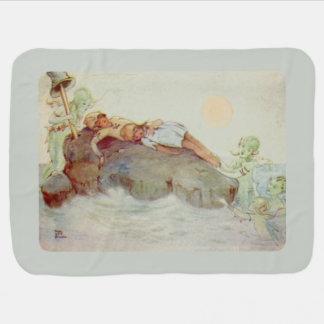 Peter Pan en Wendy Asleep met Meerminnen Inbakerdoek
