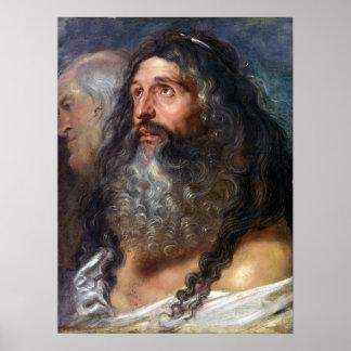 Peter Paul Rubens Study van Twee Hoofden Poster