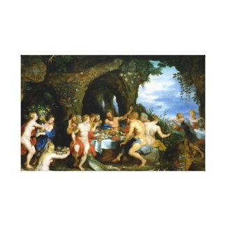 Peter Paul Rubens The Feast van Acheloüs Canvas Afdruk