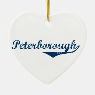 Peterborough Keramisch Hart Ornament
