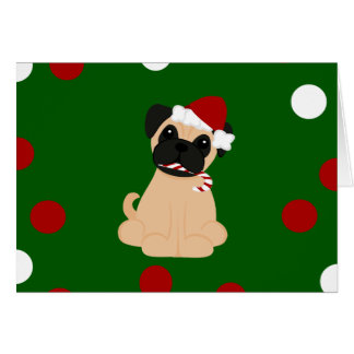Peticularfashions.com Pug van Kerstmis Briefkaarten 0