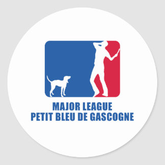 Petit BLEU DE Gascogne Ronde Sticker