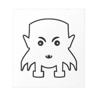 Petit Illustratie van de Cartoon van de Vampier Notitieblok