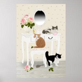 """PetitRose """"de Salon van de Schoonheid van Katjes"""", Poster"""
