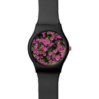 Petunia en gazon horloge