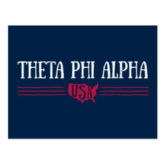 Phi de Alpha- V.S. van de theta Briefkaart
