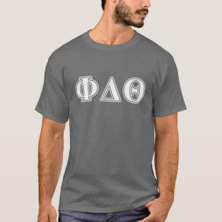 Phi de DeltaBrieven van het Wit en van de T Shirt