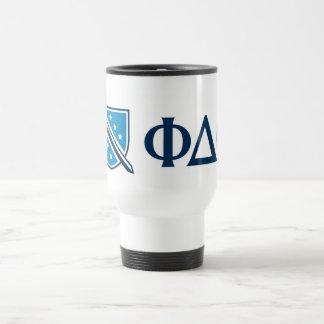 Phi DeltaTheta - Blauwe Griekse Lettters en Logo Reisbeker