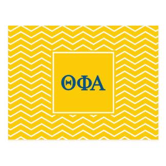 Phi het Alpha- | van de theta Patroon van de Briefkaart