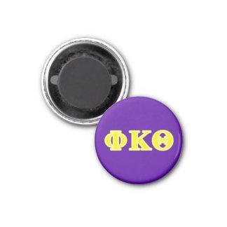 Phi Kappa de Gele Brieven van de Theta Ronde Magneet 3,2 Cm