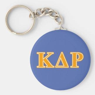 Phi Kappa de Oranje Brieven van de Theta Basic Ronde Button Sleutelhanger