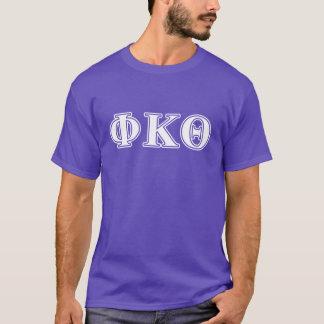 Phi Kappa de Witte en Paarse Brieven van de Theta T Shirt