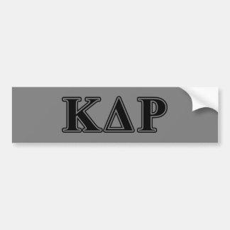 Phi Kappa de Zwarte Brieven van de Theta Bumpersticker