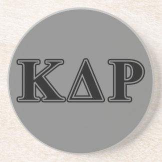 Phi Kappa de Zwarte Brieven van de Theta Zandsteen Onderzetter
