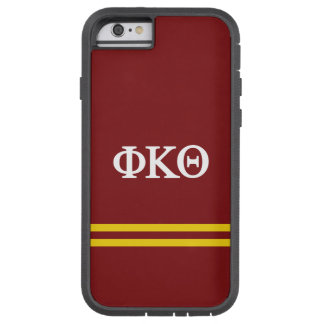 Phi Kappa Theta | de Streep van de Sport Tough Xtreme iPhone 6 Hoesje