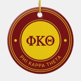 Phi Kappa Theta | Kenteken Rond Keramisch Ornament