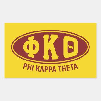Phi Kappa Theta | Wijnoogst Rechthoekige Sticker