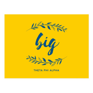 Phi van de theta Alpha- Grote Kroon Briefkaart