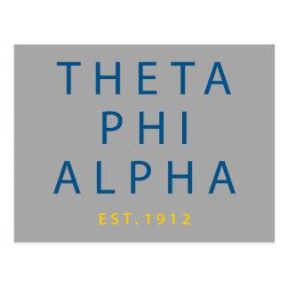 Phi van de theta Alpha- Modern Type Briefkaart