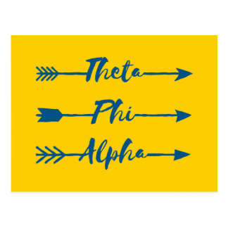 Phi van de theta Alpha- Pijl Briefkaart