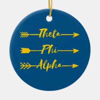 Phi van de theta Alpha- Pijl Rond Keramisch Ornament