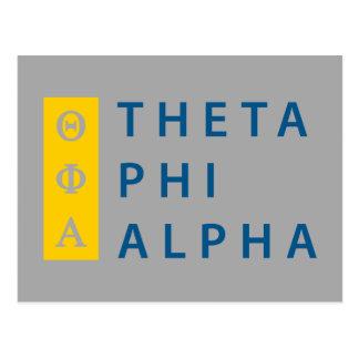 Phi van de theta Gestapeld Alpha- Briefkaart