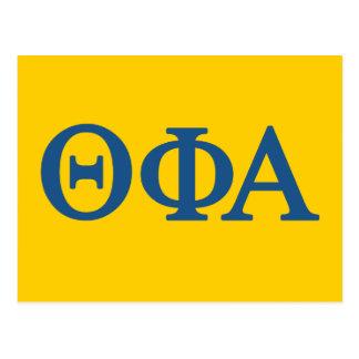 Phi van de theta Groot Logo Alpha- Lil Briefkaart