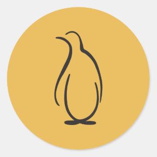 Phi van de theta het Alpha- Logo van de Pinguïn Ronde Sticker