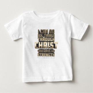 Phil4: 13 Ik kan Alle dingen door Christus doen Baby T Shirts