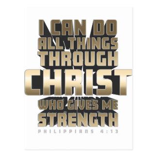 Phil4: 13 Ik kan Alle dingen door Christus doen Briefkaart