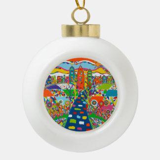 Philadelphia, het Ornament van Kerstmis van de PA Keramische Bal Ornament