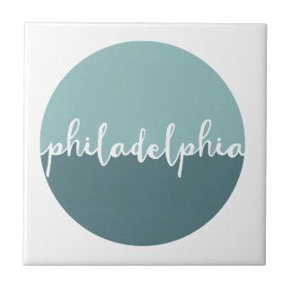 Philadelphia, PA | Blauwe Cirkel Ombre Tegeltje