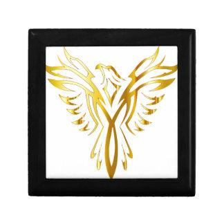 Phoenix goud decoratiedoosje