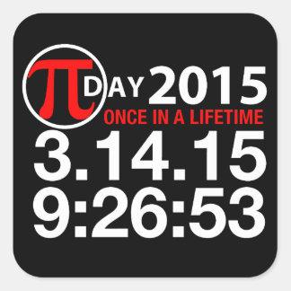 Pi Dag 2015 Vierkante Sticker