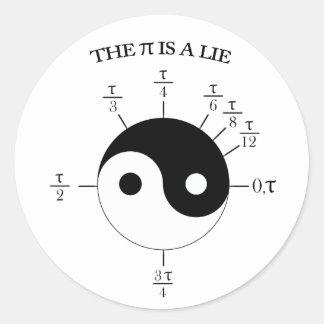 Pi is een Leugen! Ronde Sticker