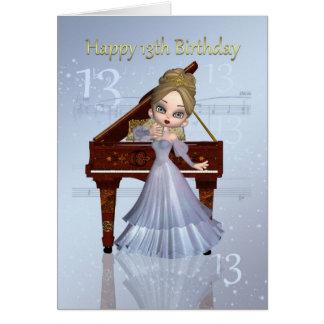 Piano en de Kaart van de Verjaardag van de Muziek