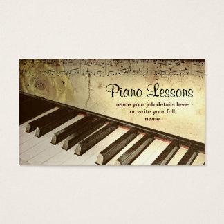 piano visitekaartje visitekaartjes