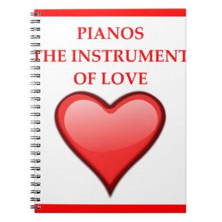 PIANO'S NOTITIE BOEKEN