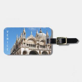 Piazza San Marco, Venetië, Italië Bagagelabel